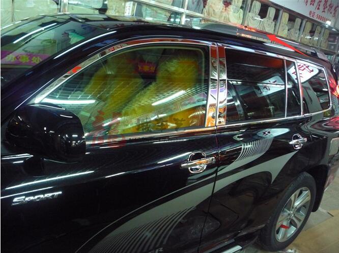 Boutique Aluminum alloy SUV Car pcs Roof Rack OEM Style Roof Racks Luggage rack Fit For toyota Highlander 2009-2014(China (Mainland))