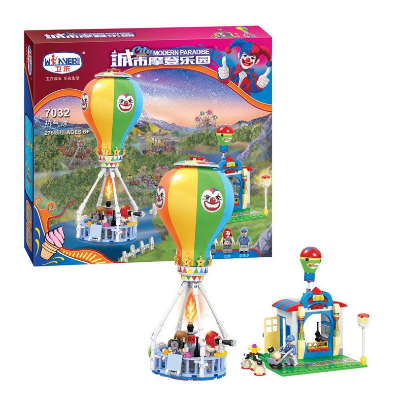 Winner Metropolis Sequence Lady Mates Trendy Paradise Scorching Air Balloon Bricks Minifigure Constructing Blocks Toys Suitable With Legoe
