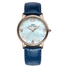 Ibso genuino mujer realmente cinturón parejas reloj de cuarzo hombre de negocios reloj impermeable reloj estudiante tabla 0650