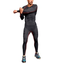 Men Athletic Pants Compression Running Sports Training Base Layers Skin Tights Quick Dry Free Shipping(China (Mainland))