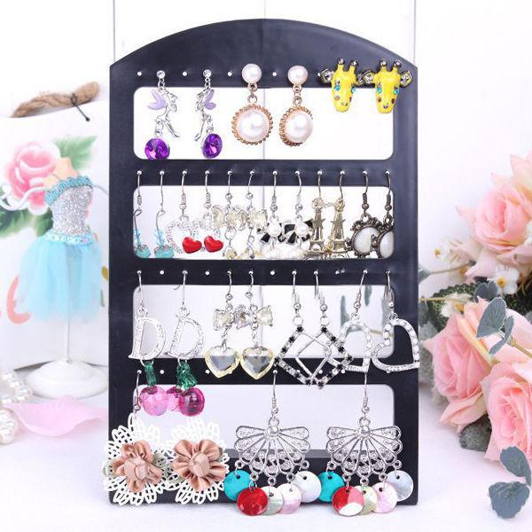 New 48 Holes Earrings Ear Studs Jewelry Show Plastic Display Rack Stand Organizer Holder Drop Shipping(China (Mainland))