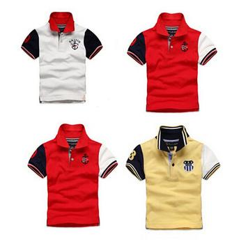 Boys casual 3 colors sports t shirt summer short sleeve clothes boys top tee