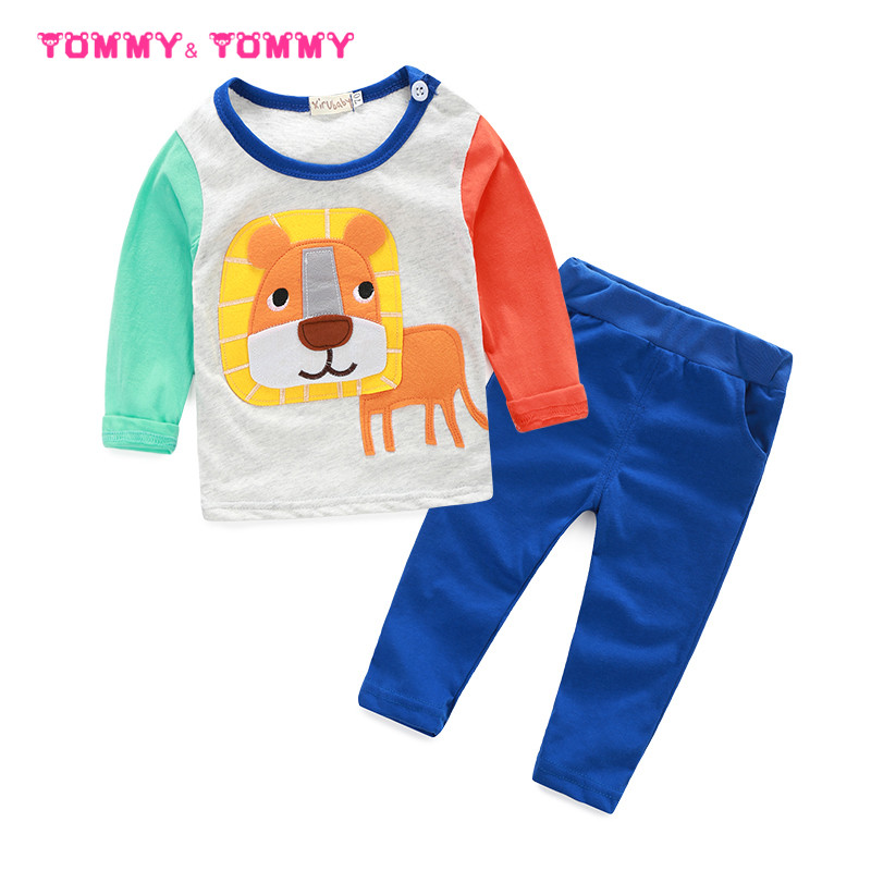 baby boys clothes cute bear and lion baby born clothing