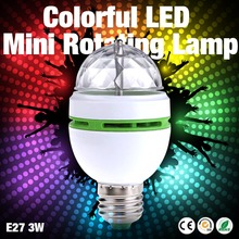 Buy 1PC Mini led stage lamp E27 AC85-265v Crystal Magic Color Changing 3W Party Lighting Auta Rotating RGB Night Light 110V 220V for $1.11 in AliExpress store