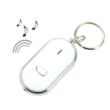 P128- – LED Key Finder Locator Find Lost Keys Chain Keychain Whistle Sound Control DropShipping