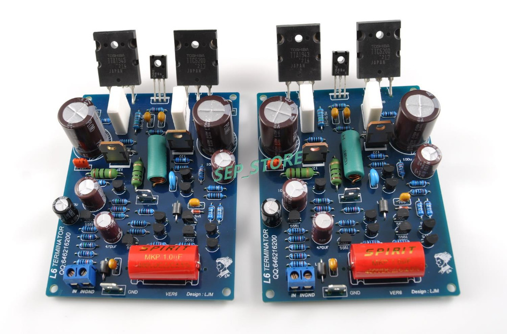 NEW LJM DIY L6 Duel Channel Audio Power Amplifier Kit TOSHIBA 1943 5200(China (Mainland))