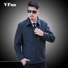 Autumn Winter New Men Woolen Coat Business Casual Turn-down Collar Men Coat Warm Plus Size 3XL Z1470(China (Mainland))