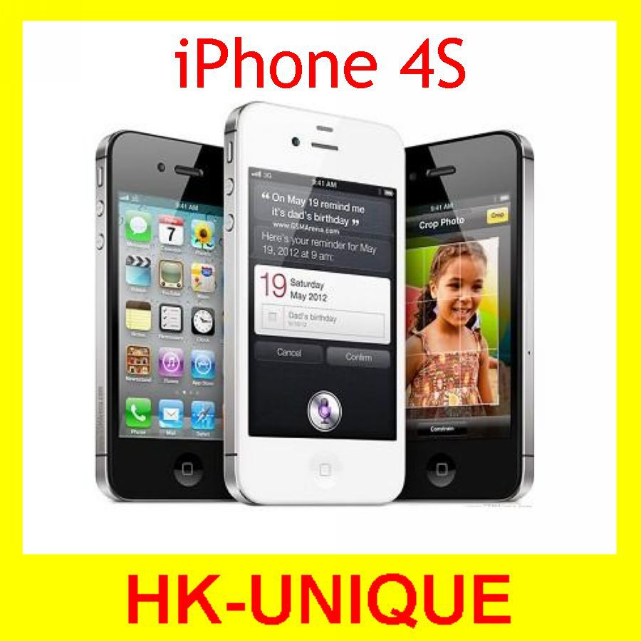 Мобильный телефон APPLE iPhone 4S 16 32 64 WCDMA 3G WIFI GPS 8MP мобильный телефон 5c 100% iphone 5c ios 8 4 0 ips 8mp 1080 p 16 32 64 wifi 3g apple