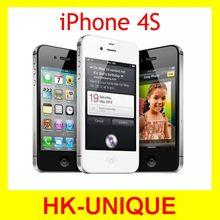 Первоначально открынный iPhone 4S мобильный телефон 16 ГБ 32 ГБ 64 ГБ ROM двухъядерный WCDMA 3 г WIFI GPS 8MP камера бесплатная доставка(China (Mainland))