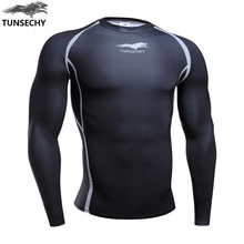 Buy 2017 Mens Compression Shirts Bodybuilding Skin Tight Long Sleeves Jerseys Clothings Crossfit Exercise Workout Fitness Sportswear for $11.99 in AliExpress store