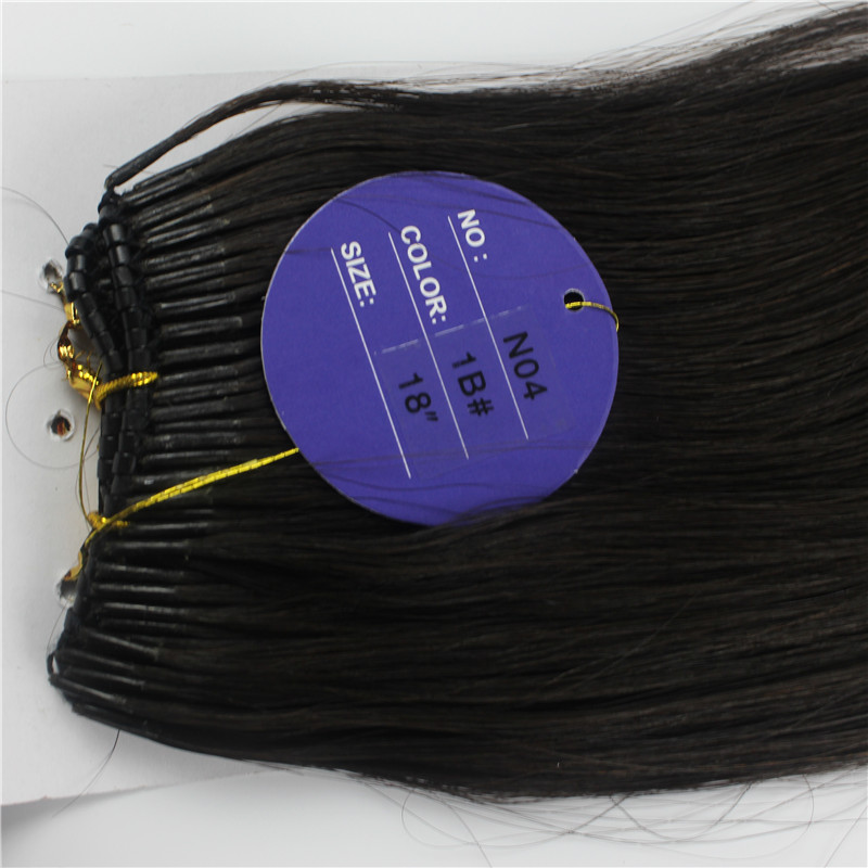 Mongolian Hair Extensions 100 Beads Black Brown Straight Human Hair Micro Nano Ring Hair Extensions