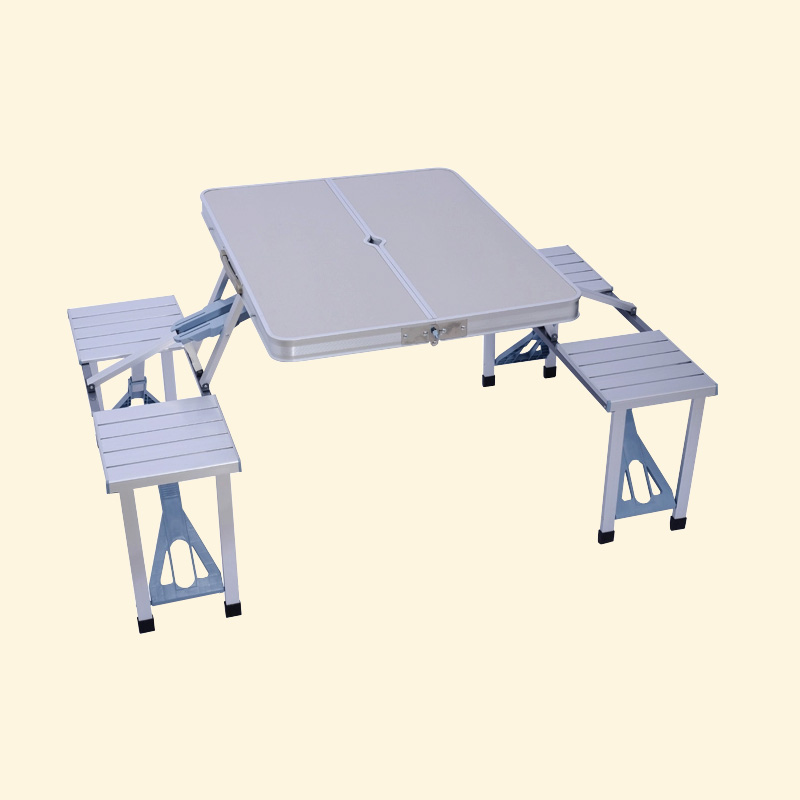 Outdoor aluminum folding tables and chairs Set piece camping table barbecue s