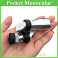 8X20 Monocular Mini Pocket Monocular Silver Color Optical Portable Monocular Telescope a Good Travel Partner