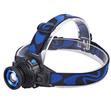 Headllight Cree Q5 Waterproof LED Headlamp High Bright Built-in Lithium Battery Rechargeable Head lamps 3 Modes Zoomable Torch