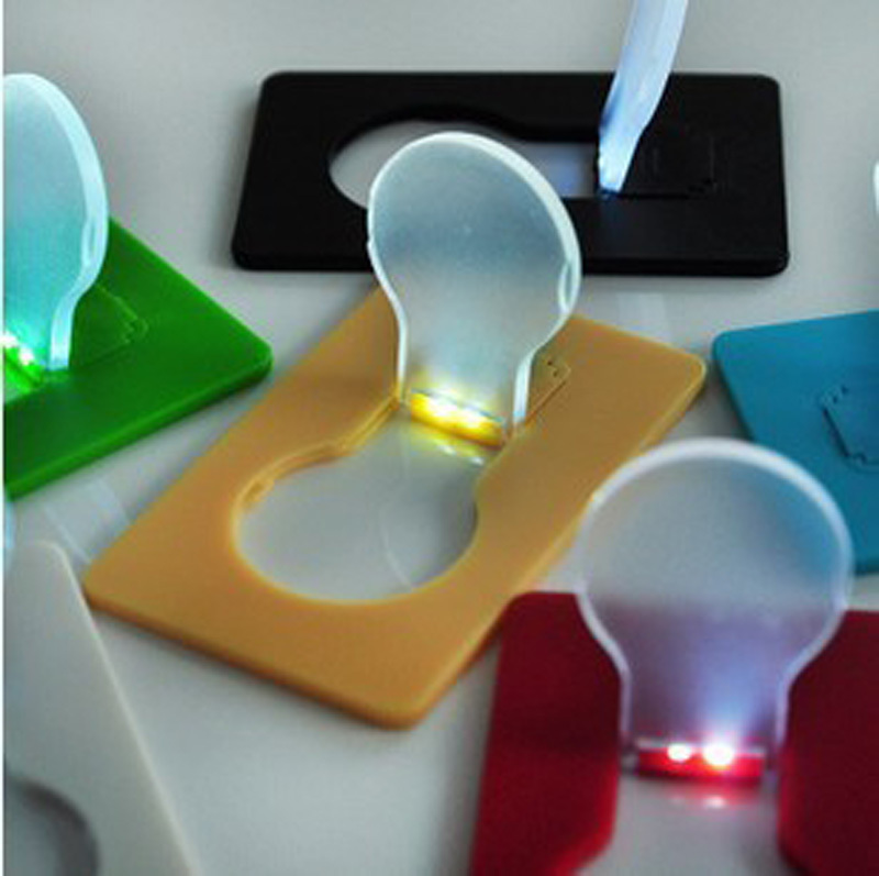 30PCS/Lot New Fashion Portable LED Credit Card Light Mini ...