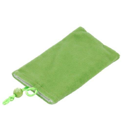 Free shipping 5 pcs Grass Green Cell Phone PDA Velvet Sock Carrying Pouch(China (Mainland))