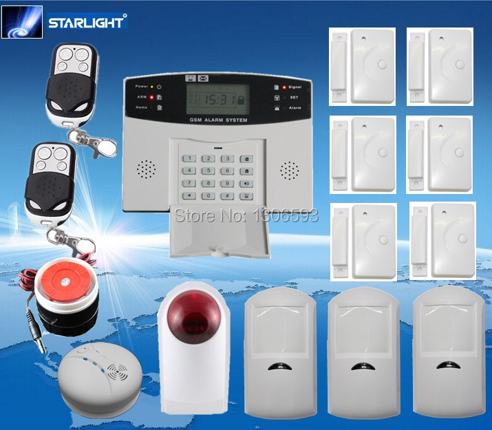 wireless gsm alarm system smart home system smoke detector motion sensor gsm850 900 1800 1900mhz. Black Bedroom Furniture Sets. Home Design Ideas