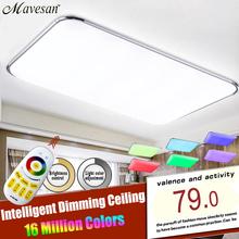 NOUVEAU Groupe Moderne LED Plafonnier Avec 2.4G RF À Distance Contrôlée Dimmable Changement de Couleur Lampe Pour Salon Chambre(China (Mainland))