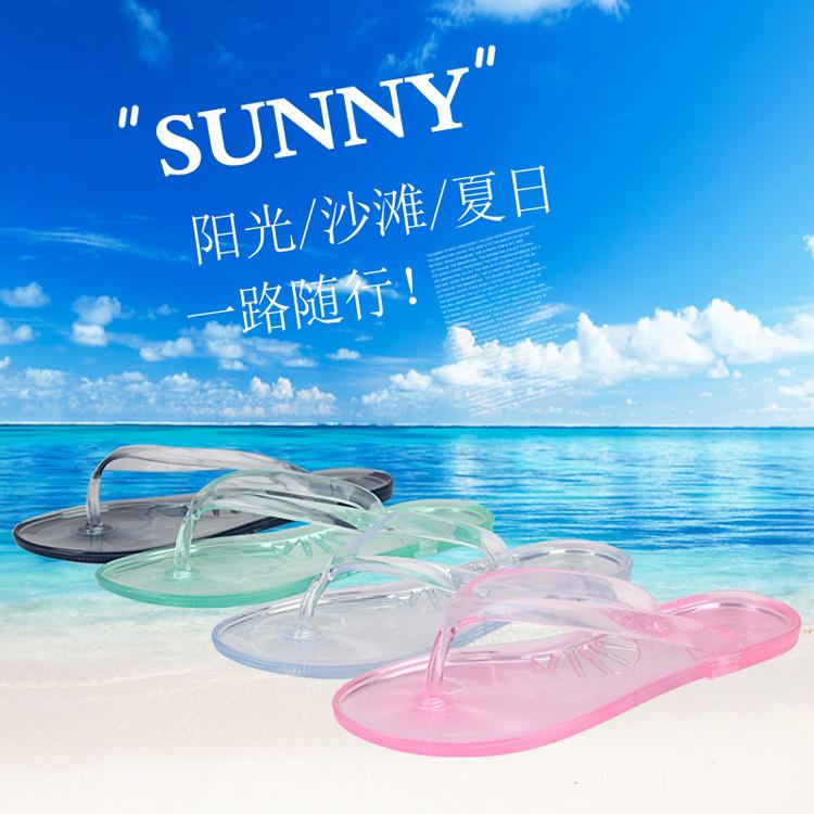 2015 Summer New Crystal Female Slippers Sandals Sandals Summer Beach Women Flip Flops