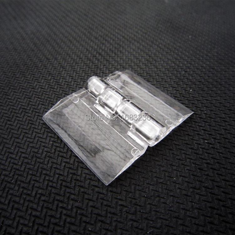 6pcs Clear Transparent Acrylic Plastic Hinge Box Piano Plexiglass Hinge 25X33mm(China (Mainland))