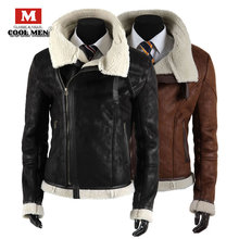 Hot-selling three-dimensional cut cable stayed berber fleece male leather clothing outerwear 726(China (Mainland))