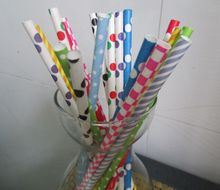7.75 inches 10000pcs (25pcs*400 packs) Assorted Pattern Paper Drinking Straw for choice Free Shipping by FedEx