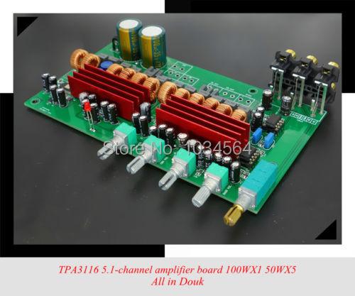 Latest TPA3116 BTL Class D audio 5.1 channel HIFI amplifier board 100WX1 50WX5
