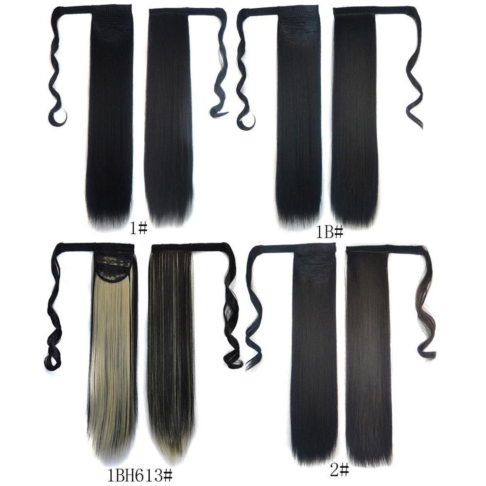 Cordón inconsútil de la fibra de alta temperatura peluca larga recta ...