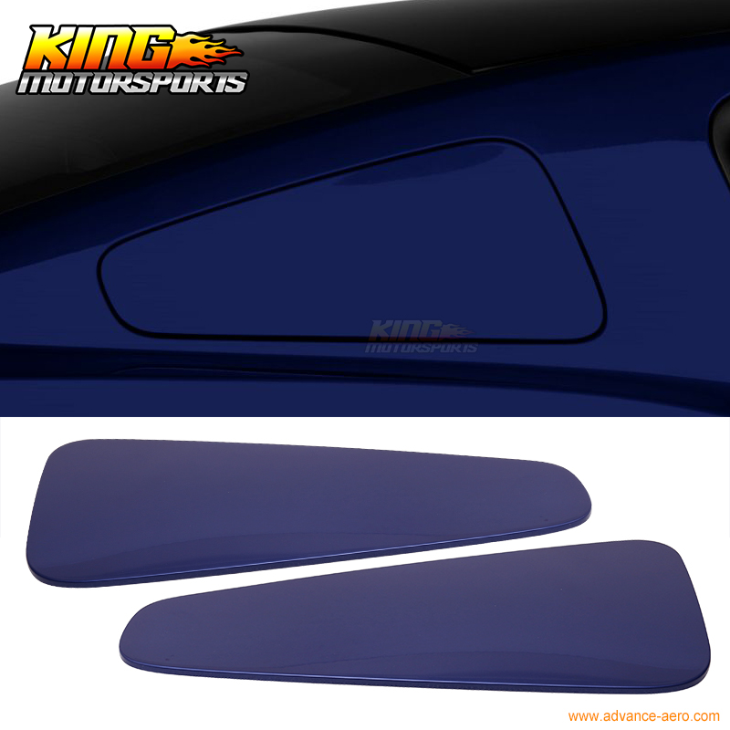 For 10-14 Ford Mustang GT350 Style Rear Quarter Window Painted # J4 Deep Impact Blue(China (Mainland))