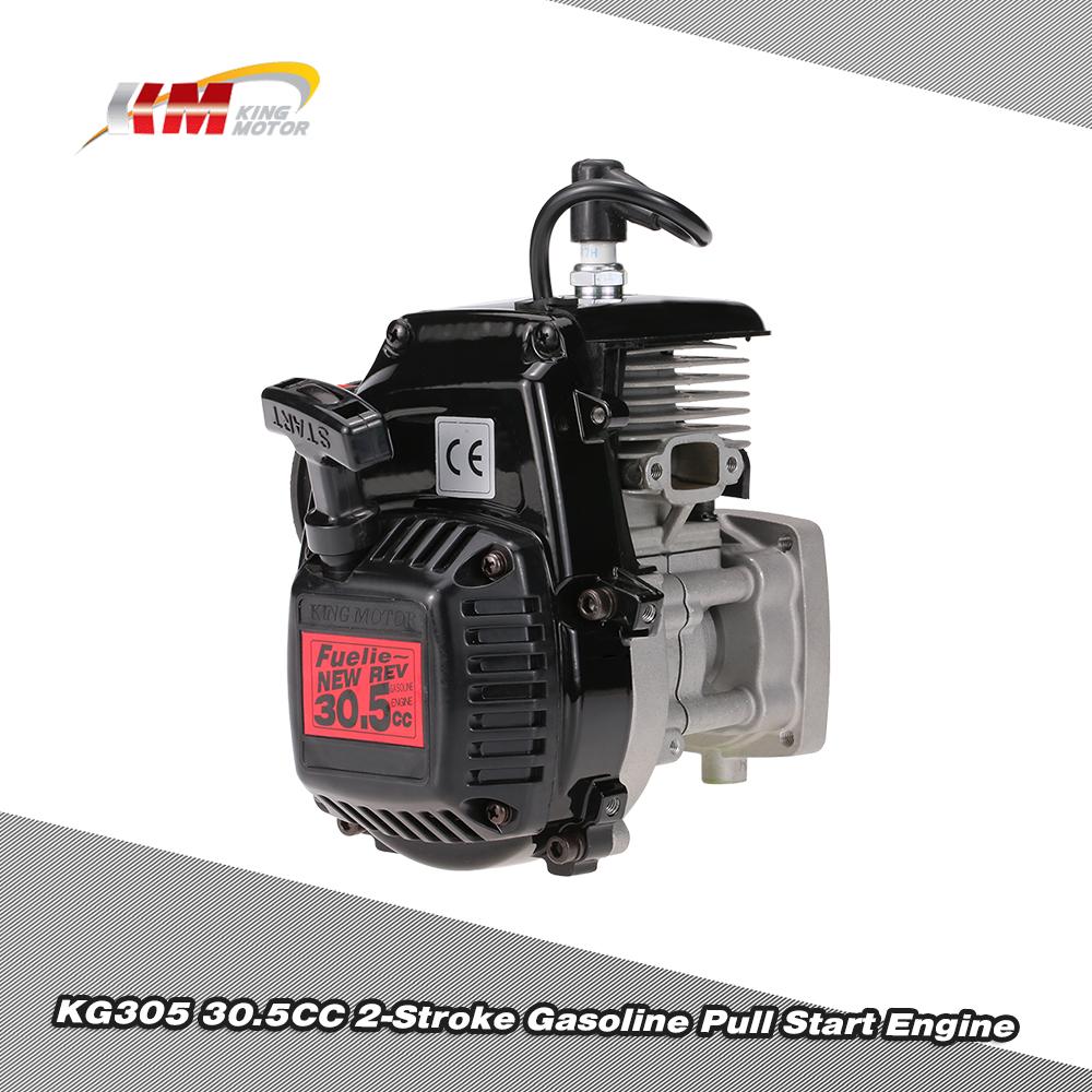 NEW King Motor KG305 30.5CC 2-Stroke Gasoline Pull Start Engine for 1/5 HPI Baja 5B 5T CY LOSI FG KM Rovan Buggy Truck RC Car(China (Mainland))
