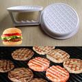 DIY White Plastic Hamburger Meat Beef Grill Burger Press Patty Maker Mold Mould Kitchen Stufz Machine