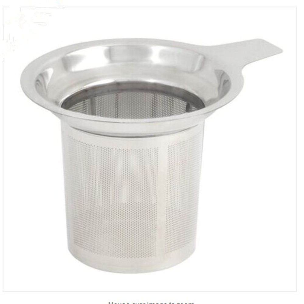 304 Stainless Steel Mesh Cup Reusable Strainer Herbal Locking Tea Filter Infuser Spice 7.5x8.8cm(China (Mainland))