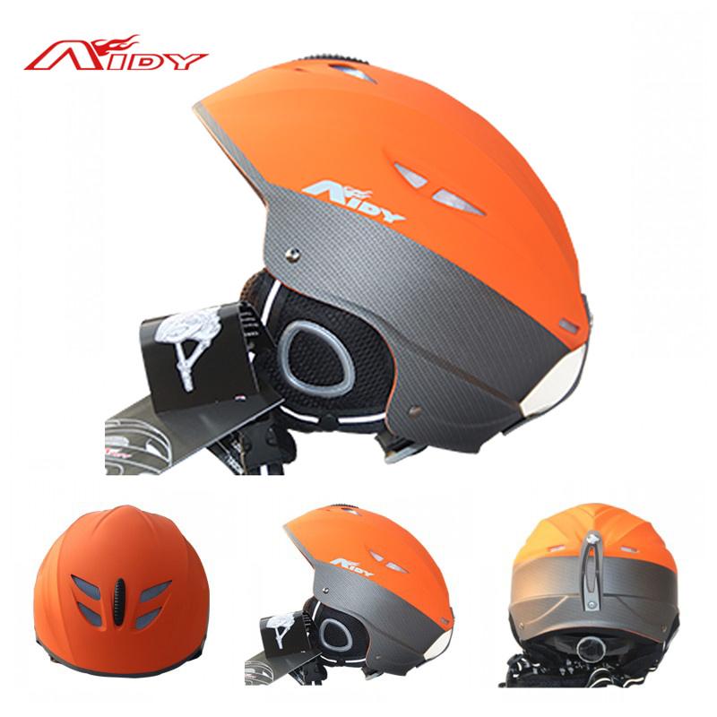 AIDY Winter Outdoor Ski Snowboard Helmet Unisex Skateboard Helmets Capacete Extreme Sports Safty Skiing Helmet Equipment, Orange(China (Mainland))