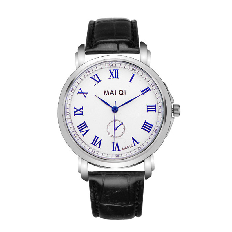 Best Sales MAI QI brand men watch 2015 hot newest style leather Analog watches, luxury silver dial Roman numerals - HY GEM store