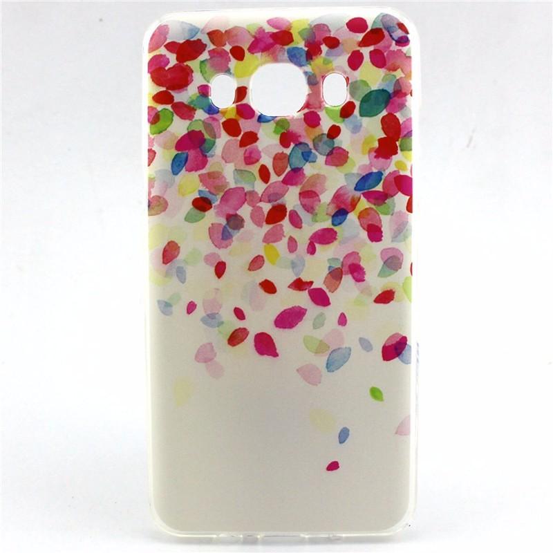 Attractive Lovely Pink Stripe TPU Case For Samsung Galaxy J7 2016 J710 J710F J710H Capa Ultra Slim Soft Mobile Phone Back Cover