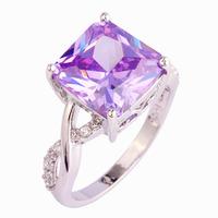 Wholesale Fashion Women Tourmaline & White Topaz 925 Silver Ring Jewelry Size 6 7 8 9 10 Bridal Wedding Engagement Free Shipping