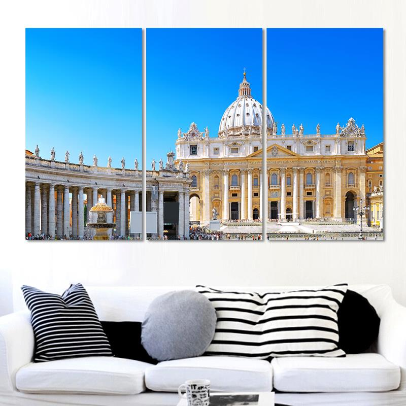 Italy City Canvas Pictures Modern Wall Painting High Quallity Canvas Art City scenery Art Wall Picture For Living Room(China (Mainland))