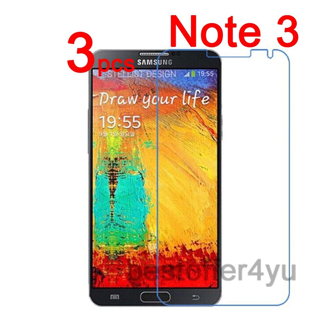 Anti-scratch CLEAR LCD Note3 III N9000 Screen Protector Guard Film Samsung Galaxy Note 3 N9008 Protective - Xinghai store