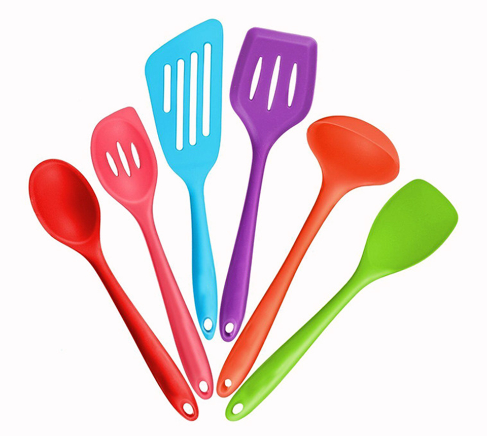 6pcs non stick silicone kitchen cooking tools heat for Kitchen tool set of 6pcs sj