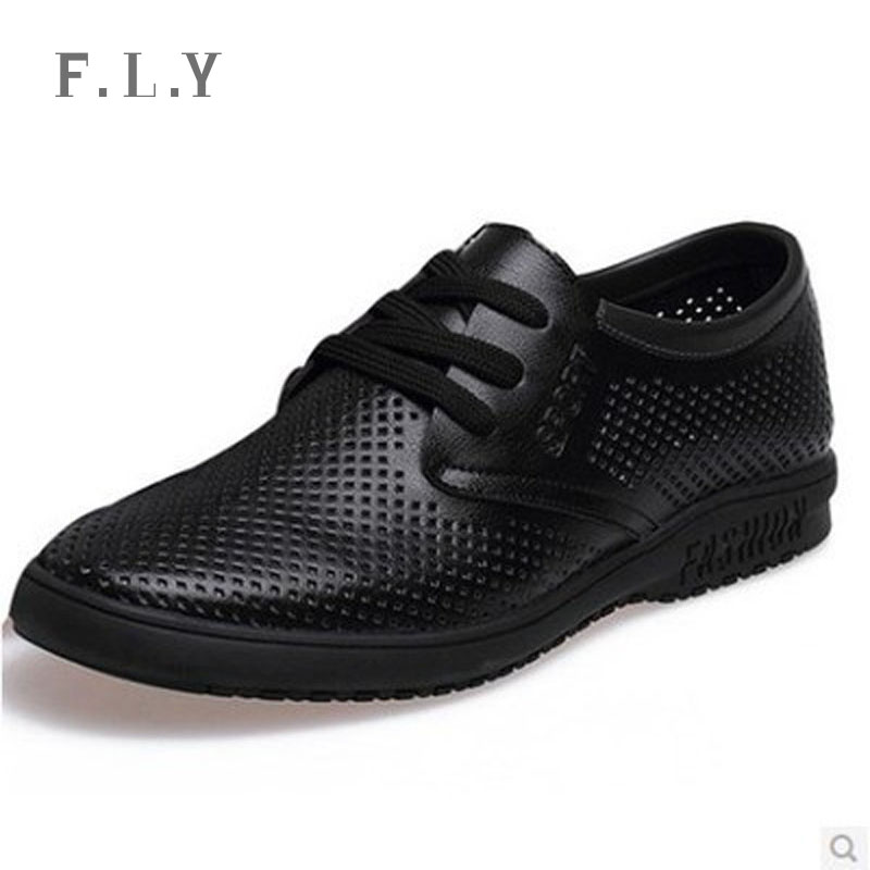 Fashion 2015 new summer Genuine leather mens Dress shoes Lace-up Fretwork men sandals Business casual loafers Plus size PY0071 - NO.1 store