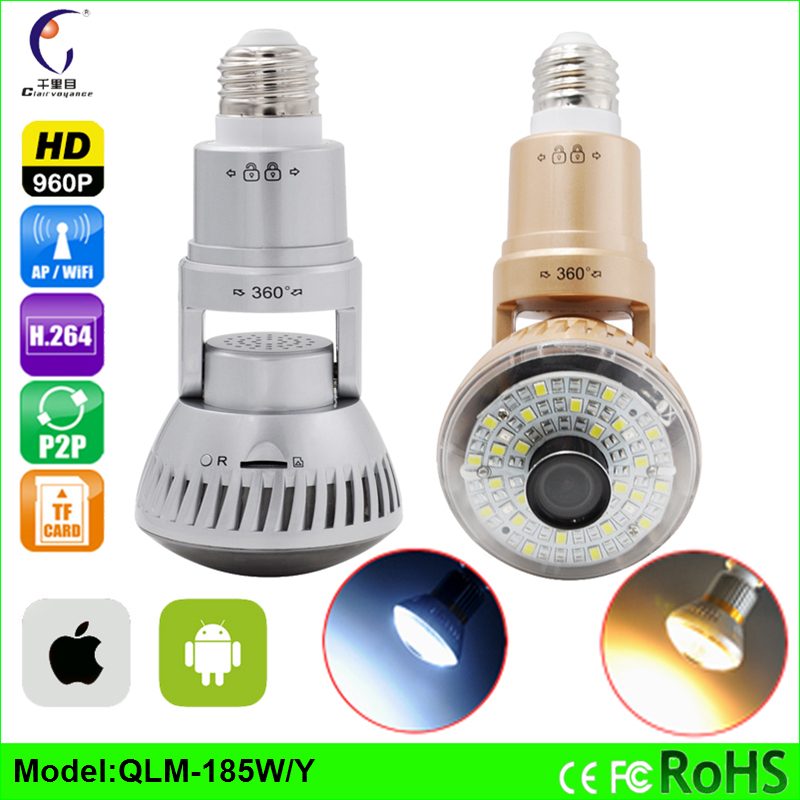 2016 Hidden Bulb HD 960P 1.3MP P2P WiFi IP Network Camera Night Vision Motion Dectiong Email alert ONVIF CCTV security cameras(China (Mainland))