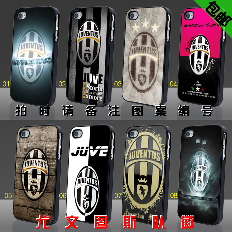 For iphone 4 4s 5s phone case protective case juventus uniforms jersey badge team logo(China (Mainland))