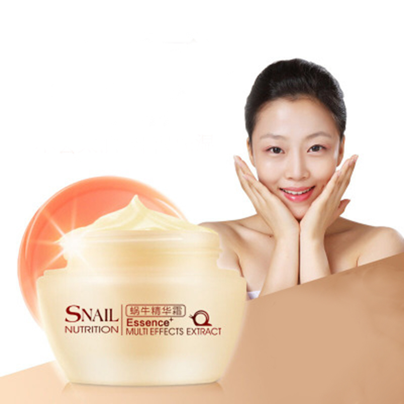 Natural Snail Essence Face Cream Moisturizing Anti-Aging Cream Anti Wrinkle Day Creams Multi-Effects Extract Face Care Cream 50g(China (Mainland))