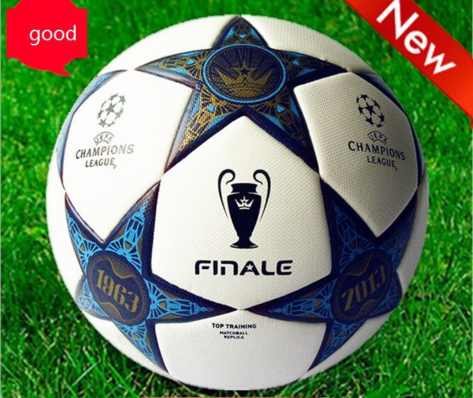 2013 European Champions League Ball Soccer ball high quality PU football on the 5th game of football training Soccer ball size 5(China (Mainland))