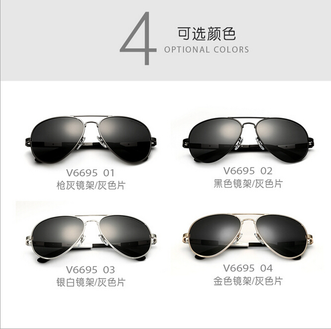Glasses 6695 Aluminum Magnesium Aviator Sunglasses Polarized Men s SunGlasses Male Driving Fishing Oculos masculino Dragon