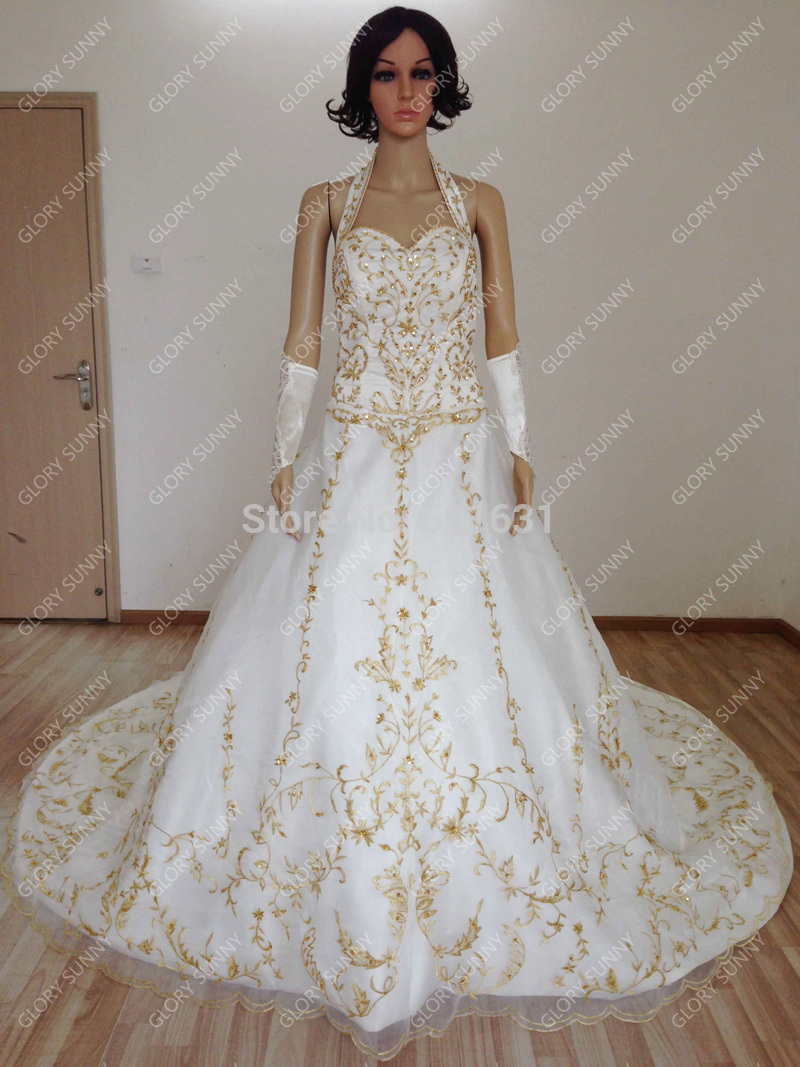 Free shipping best quality custom satin bridal gown with