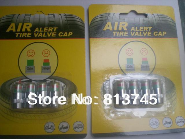Free shipping 4packs = 16pcs 2.4bar 2.2bar 2.0bar available Car Tire Pressure Monitor Valve Stem Caps Sensor Indicator Eye Alert