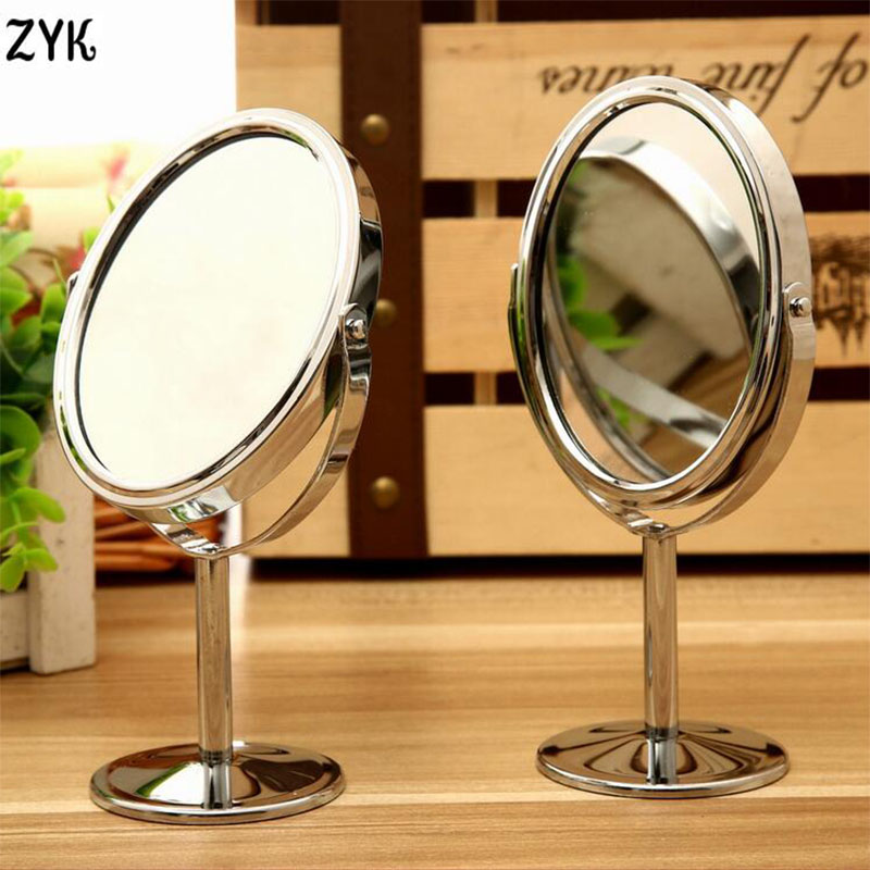 High quality beauty metal make up mirror dual side normal for Cheap stand up mirrors