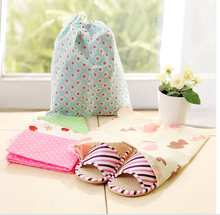 2536 drawstring travel shoes dust bag thickening print non-woven shoes  bag (China (Mainland))
