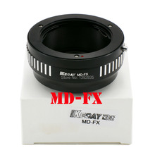 Buy JUST NOW High-Precision MD-FX Lens adapter Minolta MD MC Mount Lens Fujifilm X-Pro1 Mount Adapter FX Mount- Black for $10.25 in AliExpress store